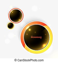 Abstract creative wall-paper - With dark glass circles. For...