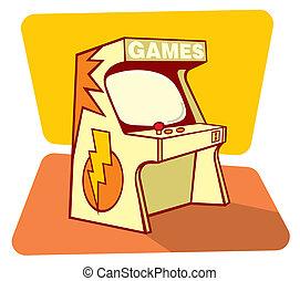 Retro games console - Vector illustration of a retro game...