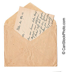 vieux, Manuscrit, lettre