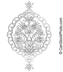 outline artistic ottoman seamless p - Ornament and design...