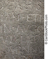 old text - ancient text in old stone