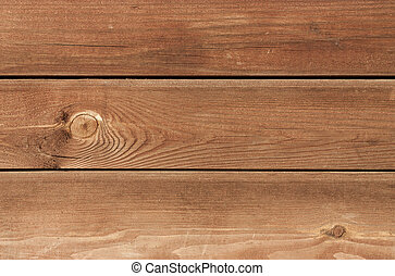 Wood plank brown texture background - Three brown treated...