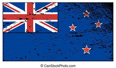New Zealand Flag Grunged