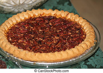 Pecan Pie - Pecan pie, fresh out of the oven, ready for...