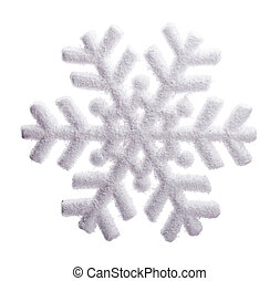 snowflake Isolated on white background