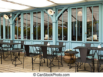Terrace of a French bistro