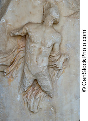 Antique high-relief - Damaged marble antique high-relief