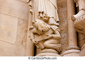 Submission - Detail of Notre Dame Cathedrals facade - Paris...