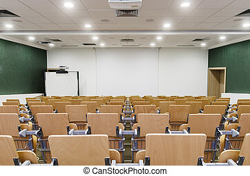 Lecture Hall - Modern Lecture Hall. Theater seating in a...
