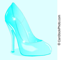 The Glass Slipper - A glass see through stiletto heel shoe
