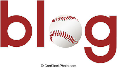 Sports blog about baseball - The word blog with a baseball...