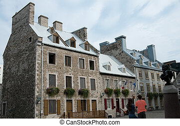century houses in Place Royale, old Quebec city, Canada