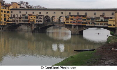 Ponte Vecchio in Florence in Winter - The Medieval Old...
