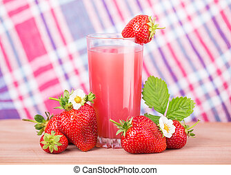 strawberry juice napkin in a cage