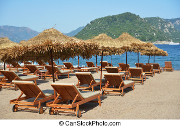 Beach in Turkey - Beach in Marmaris bay, Turkey