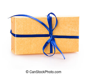 gift packing box blue yellow