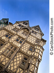 Half timbered house in Angers, France