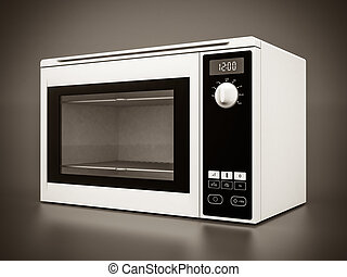 microwave - Image of the microwave oven on a gray background