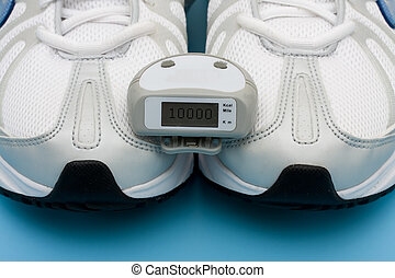 Walking for a Healthy Heart - A pair of sneakers and a...