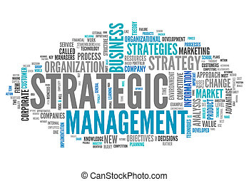 Word Cloud Strategic Management - Word Cloud with Strategic...