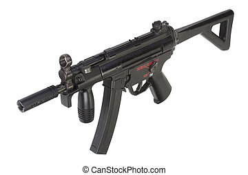 submachine gun MP5 isolated on white