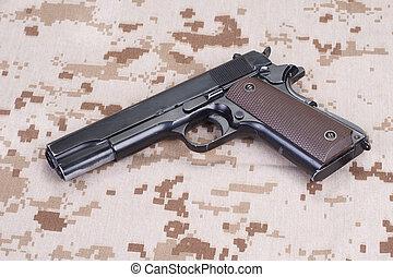 colt 1911 handgun on US Marines camouflage uniform - colt...