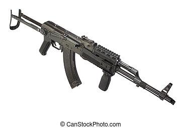 Kalashnikov AK 47 isolated on white