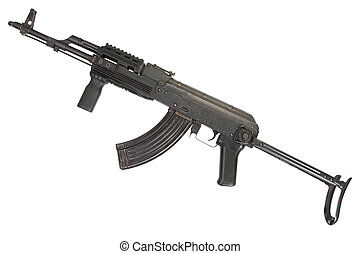 Kalashnikov rifle isolated on white