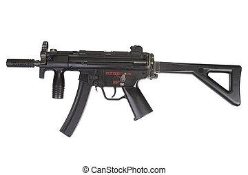 submachine gun MP5 isolated on white
