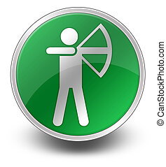 Icon, Button, Pictogram Archery - Icon, Button, Pictogram...