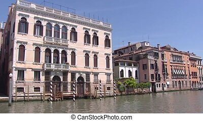 Venetian Mansions (Palazzi) viewed from Canal Grande -...