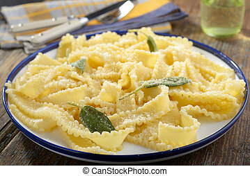 Pasta with Parmesan cheese