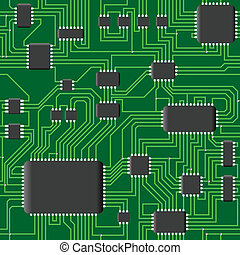 Seamless chipset - Vector illustration of seamless...