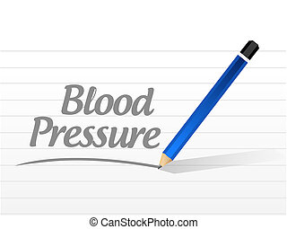 blood pressure message illustration design over a white...