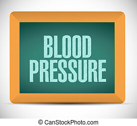 blood pressure sign illustration design over a white...