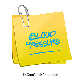 blood pressure memo illustration design over a white...