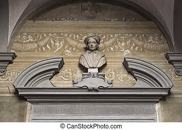 Bust of Andrea del Sarto - ITALY, FLORENCE - 27 October...