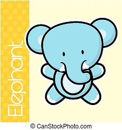 baby elephant - cute little baby elephant and text in flat...
