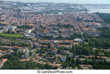 Aerial view of La Rochelle, France