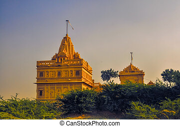 Temple in Thar Desert - Picturesque view of temple in Thar...