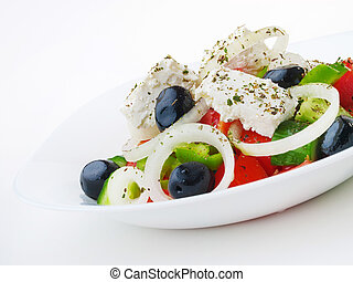 Greek salad, close up