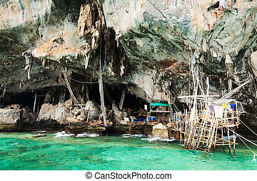 Koh Lao Liang islands, Thailand - A cave in Koh Lao Liang...