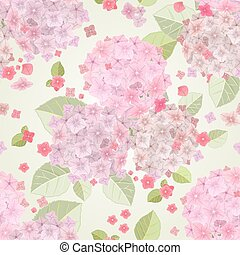 seamless texture with pink flowers