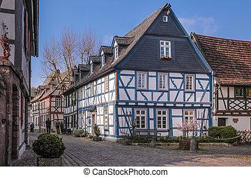 Old town of Eltville, Rheingau, Hesse, Germany