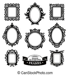Set of vintage baroque frames