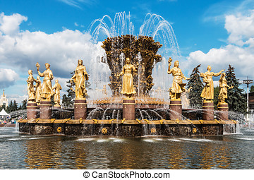 Fountain Friendship of nations in Moscow, Russia