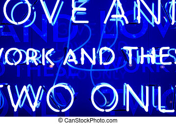 Blue Neon Sign - Illuminated Blue Neon Sign