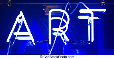 Neon Art Sign - Illuminated Blue Neon Art Sign