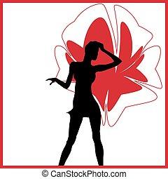 silhouette girl model sheath dress - silhouette girl model...