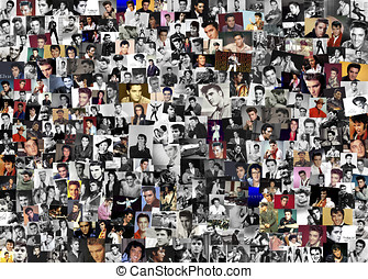 Elvis presley collage With over 200 pieces By Chris Smith